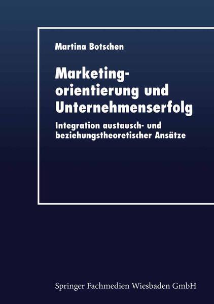 Marketingorientierung und Unternehmenserfolg - Coverbild