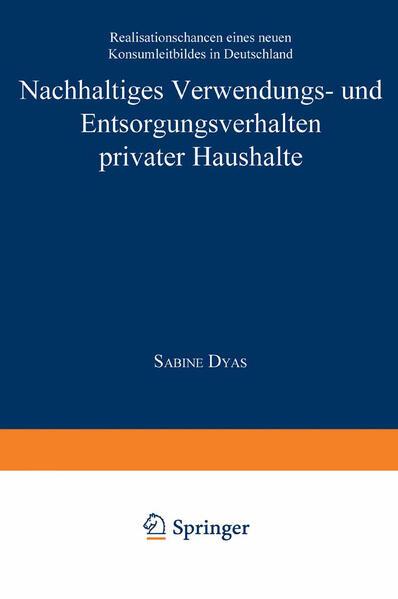 Nachhaltiges Verwendungs- und Entsorgungsverhalten privater Haushalte - Coverbild