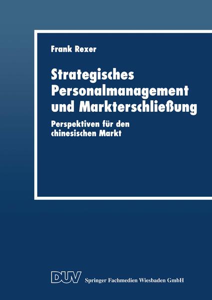 Strategisches Personalmanagement und Markterschließung - Coverbild