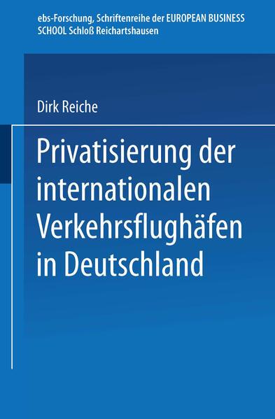 Privatisierung der internationalen Verkehrsflughäfen in Deutschland - Coverbild