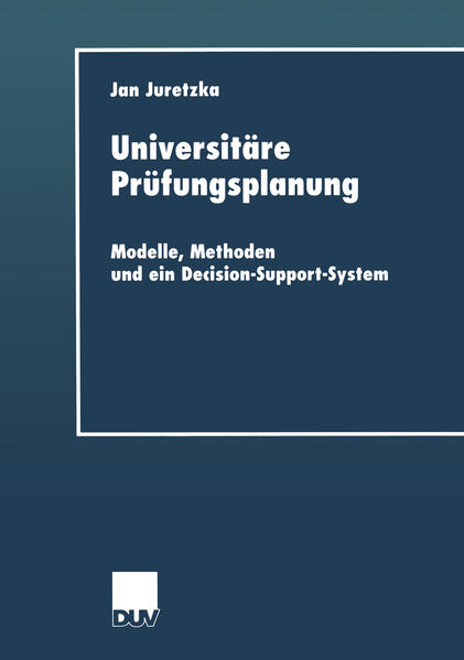 Universitäre Prüfungsplanung - Coverbild