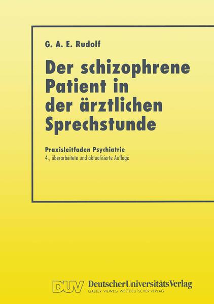 Der Schizophrene Patient in der Ärztlichen Sprechstunde - Coverbild