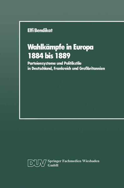 Wahlkämpfe in Europa 1884 bis 1889 - Coverbild
