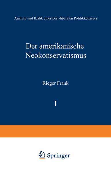 Der amerikanische Neokonservatismus - Coverbild