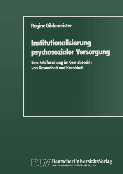 Institutionalisierung psychosozialer Versorgung - Coverbild