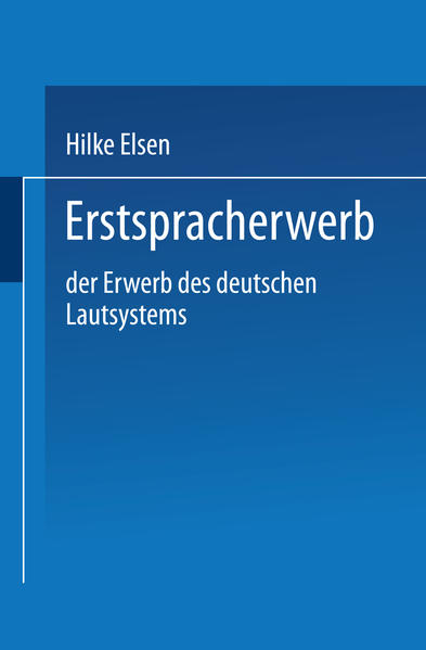 Erstspracherwerb - Coverbild