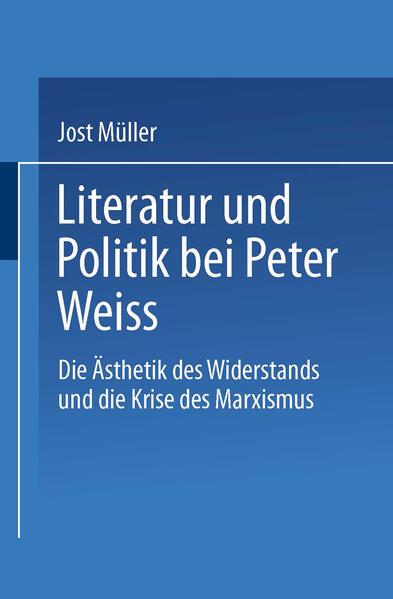 Literatur und Politik bei Peter Weiss - Coverbild