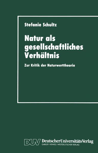 Natur als gesellschaftliches Verhältnis - Coverbild