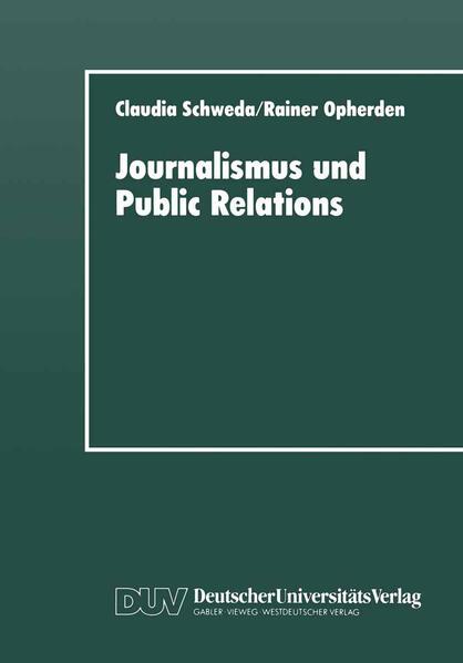 Journalismus und Public Relations - Coverbild