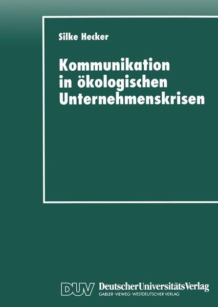 Kommunikation in ökologischen Unternehmenskrisen - Coverbild