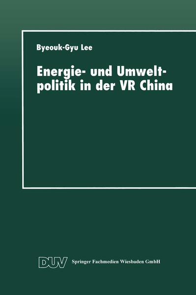 Energie- und Umweltpolitik in der VR China - Coverbild