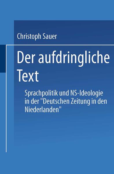 Der aufdringliche Text - Coverbild