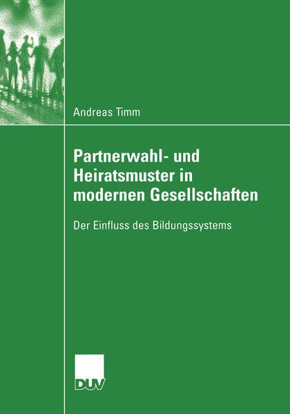 Partnerwahl- und Heiratsmuster in modernen Gesellschaften - Coverbild