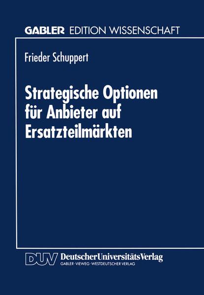 Strategische Optionen für Anbieter auf Ersatzteilmärkten - Coverbild