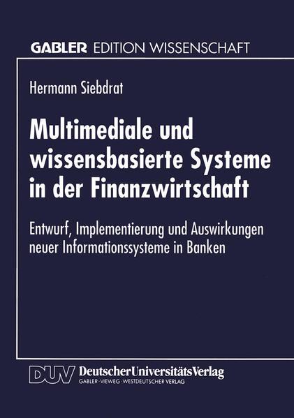 Multimediale und wissensbasierte Systeme in der Finanzwirtschaft - Coverbild
