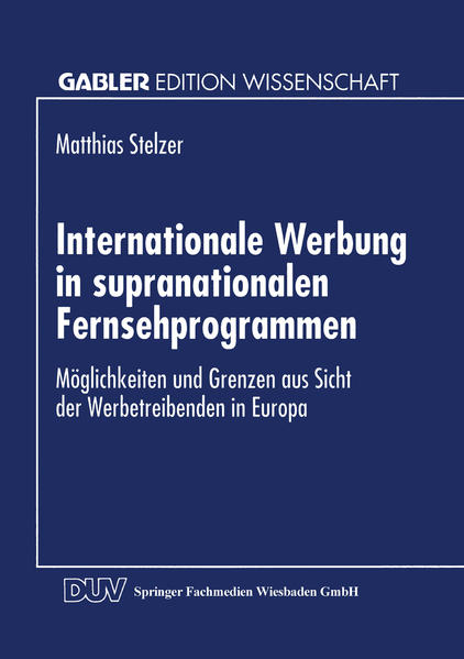 Internationale Werbung in supranationalen Fernsehprogrammen - Coverbild