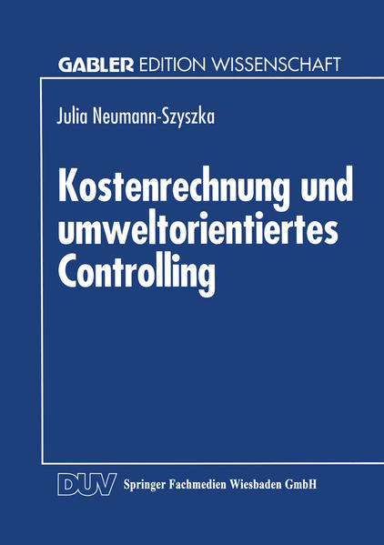 Kostenrechnung und umweltorientiertes Controlling - Coverbild