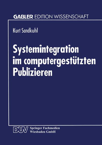 Systemintegration im computergestützten Publizieren - Coverbild