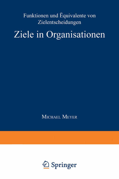 Ziele in Organisationen - Coverbild
