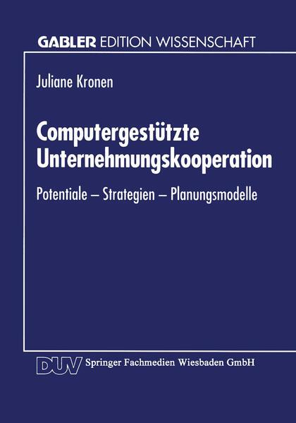 Computergestützte Unternehmungskooperation - Coverbild