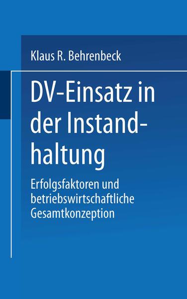 DV-Einsatz in der Instandhaltung - Coverbild