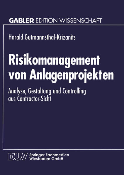 Risikomanagement von Anlagenprojekten - Coverbild