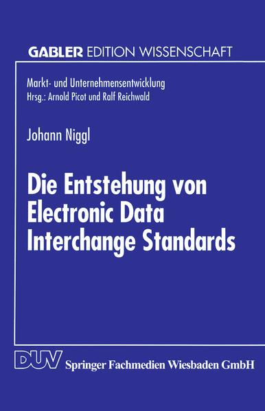 Die Entstehung von Electronic Data Interchange Standards - Coverbild