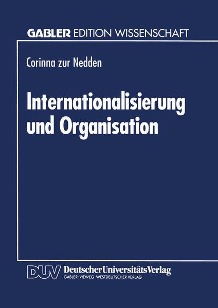 Internationalisierung und Organisation - Coverbild