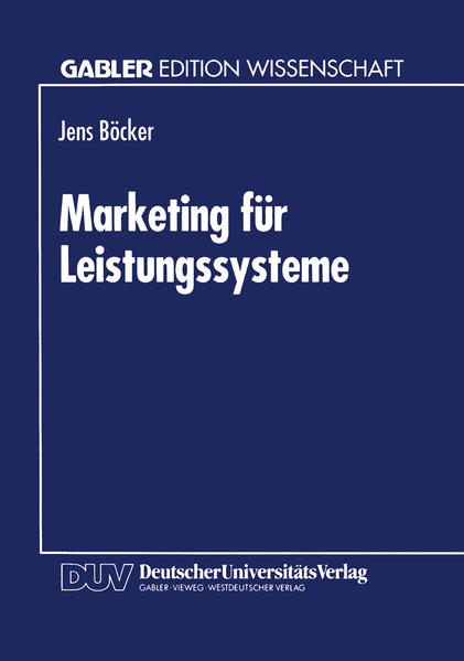 Marketing für Leistungssysteme - Coverbild