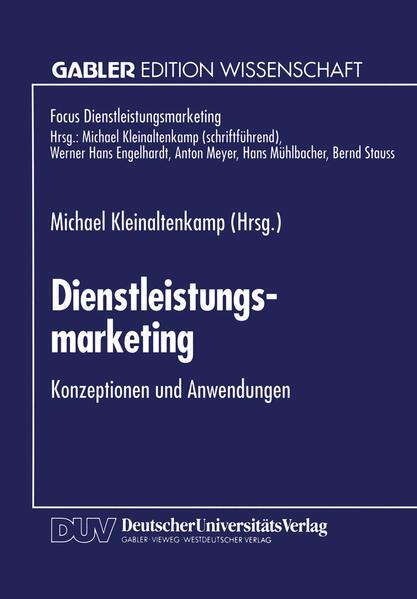 Dienstleistungsmarketing - Coverbild
