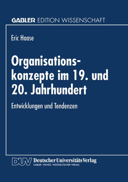Organisationskonzepte im 19. und 20. Jahrhundert - Coverbild