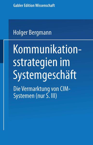 Kommunikationsstrategien im Systemgeschäft - Coverbild
