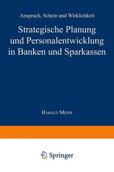 Strategische Planung und Personalentwicklung in Banken und Sparkassen - Coverbild