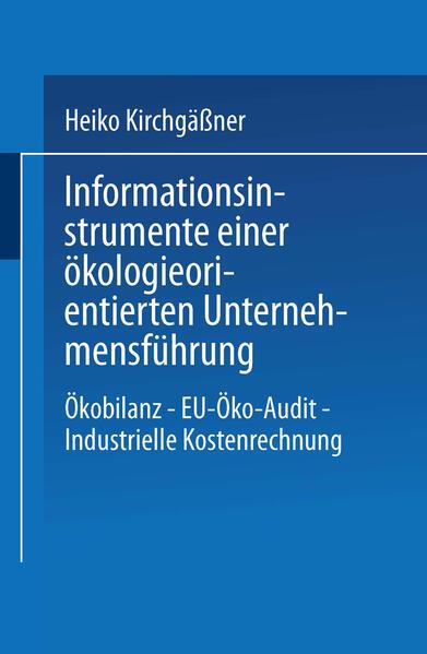 Informationsinstrumente einer ökologieorientierten Unternehmensführung - Coverbild