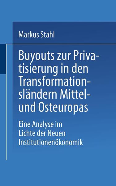 Buyouts zur Privatisierung in den Transformationsländern Mittel- und Osteuropas - Coverbild