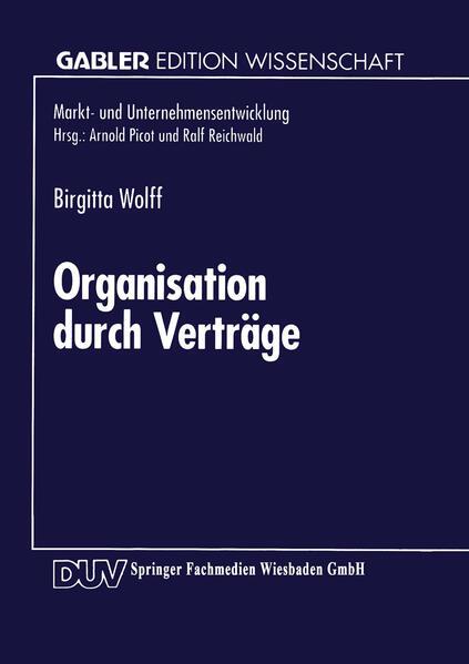 Organisation durch Verträge - Coverbild