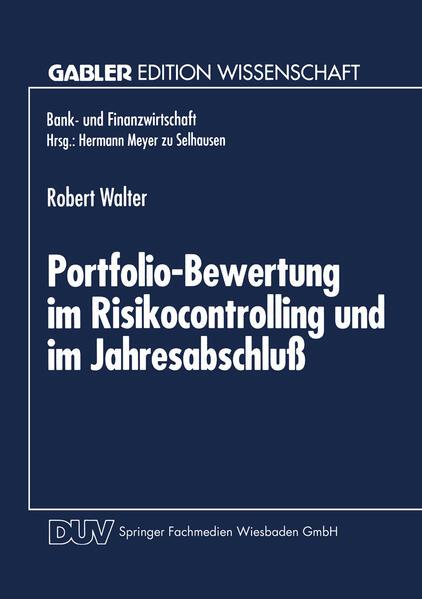 Portfolio-Bewertung im Risikocontrolling und im Jahresabschluß - Coverbild