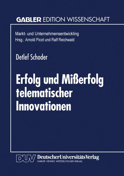 Erfolg und Mißerfolg telematischer Innovationen - Coverbild