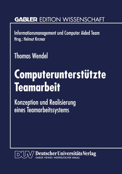 Computerunterstützte Teamarbeit - Coverbild