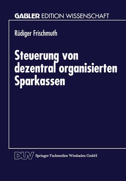 Steuerung von dezentral organisierten Sparkassen - Coverbild
