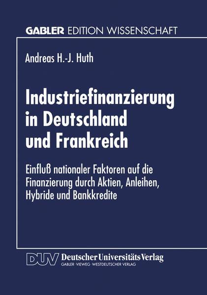 Industriefinanzierung in Deutschland und Frankreich - Coverbild