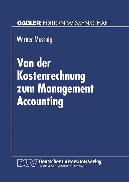 Von der Kostenrechnung zum Management Accounting - Coverbild