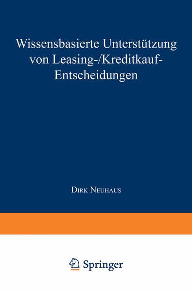 Wissensbasierte Unterstützung von Leasing-/Kreditkauf-Entscheidungen - Coverbild