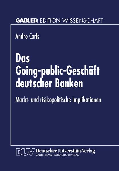 Das Going-public-Geschäft deutscher Banken - Coverbild