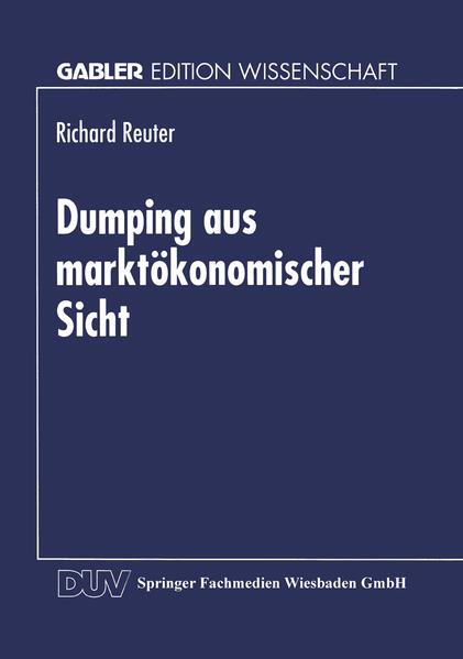 Dumping aus marktökonomischer Sicht - Coverbild