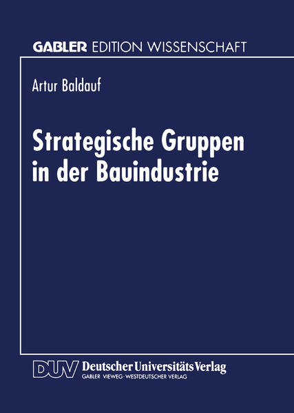 Strategische Gruppen in der Bauindustrie - Coverbild