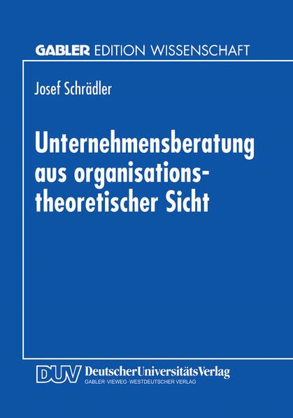 Unternehmensberatung aus organisationstheoretischer Sicht - Coverbild