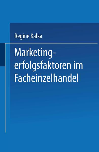 Marketingerfolgsfaktoren im Facheinzelhandel - Coverbild