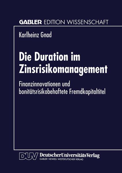 Die Duration im Zinsrisikomanagement - Coverbild