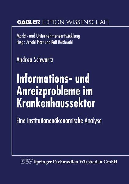 Informations- und Anreizprobleme im Krankenhaussektor - Coverbild